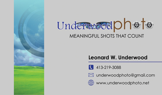 Underwood Photo Business Card Front